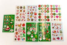 160 Aufkleber Weihnachten Weihnachtsmann Sticker Kinder Winter karte Geschenk