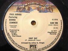 """PAUL JABARA featuring DONNA SUMMER - SHUT OUT  7"""" VINYL"""