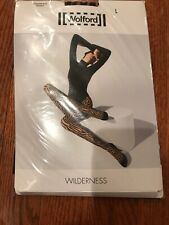 Wolford Wilderness Tights, Sahara/Black, Size L, New in Package