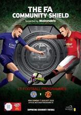 * 2016 Community Shield - Leicester City v Man Utd - Official Programme *
