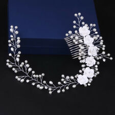 Flower Pearl Crystal Hair Comb HOT Bridal Wedding Headband Accessories Headpiece