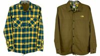 THE NORTH FACE FORT POINT Men's Reversible Plaid Flannel Shirt / Jacket LARGEL