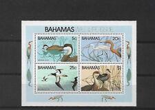 BAHAMAS MS593, 1981 WILDLIFE MINI SHEET MNH