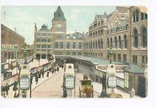 Liverpool Street Train Station LONDON Antique Railway Railroad Depot ca. 1910s