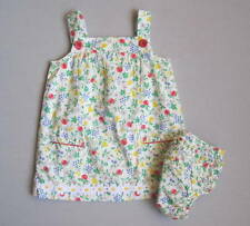 BABY BODEN Girls 3 6 Mo Floral Fruit Print Nostalgic Summer Dress Set NWOT NEW