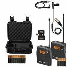 Sennheiser EW112P G3 A-Band Wireless Lav Kit w/ SKB Hard Case & Extra Batteries