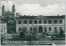 CARTOLINA d'Epoca  BERGAMO  - Romano di Lombardia : PALAZZO COMUNALE 1966