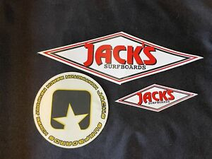 Jack's Surfboards Huntington Beach Stickers Decals