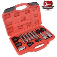 WNB 13Pc Alternator Freewheel Pulley Car Garage Tool Kit Hex Spline Star Bits