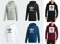 Adidas Original Trefoil Fleece Hoodie Jumper Pullover Sweatshirt for Men S-XL