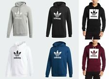 Details about Adidas Originals Men's Trefoil Flock Hoody (F47402) Size M BlueRedOrange