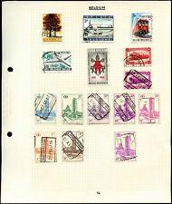 Belgium Album Page Of Stamps #V4611