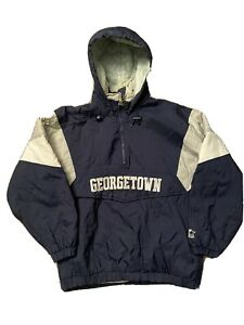 vintage Georgetown Hoyas Starter Pull Over Jacket Size Small USED