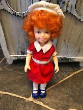 "Vintage 1982 - Knickerbocker LITTLE ORPHAN ANNIE DOLL - Curly Red Hair 6""  CUTIE"