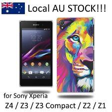Oil Paint Lion PC Hard Case Protector for Sony Xperia Z4/Z3+/Z3/Z3 compact/Z2/Z1