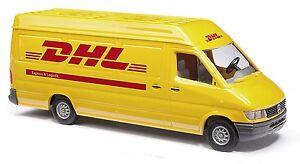 HO Busch 1995 DHL Mercedes-Benz Sprinter Cargo Van : Model Truck 47851