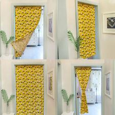1pc Pineapple Pattern Door Curtain Cotton Linen Bathroom Bedroom Kitchen Curtain
