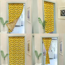 Yellow Pineapple Bathroom Blackout Doorway Curtains Window Door Half Curtain 1pc