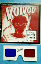 voivod - the outer limits-3D hologram promo sticker+ glasses-RARE 1993 PROMO