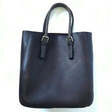NWT M0851 SAC Shoulder Bag Tote Purse Womens Brown Leather Buckle Handles NEW