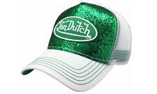 Von Dutch Baseball Cap Trucker green patch sparkle Hat vdht230 necessary Nwt !