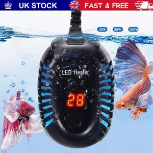 Adjustable Aquarium Fish Tank LED Digital Water Heater Submersible Thermostat UK