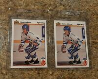 (2) Teemu Selanne 1991-92 Upper Deck Rookie card #21 Lot Ducks Jets UD RC HOF