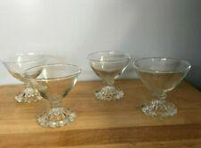 "Vintage Boopie Sherbert Cups beaded base 3 1/2"" tall - set of 4"
