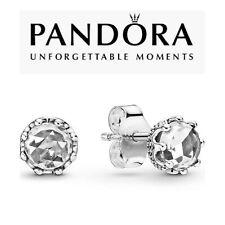 Genuine Pandora Clear Sparkling Crown Stud Earrings