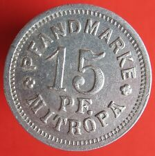 Old Rare Deutsche token- Berlin - Mitropa -15 pf - Al - 2889.3 -mehr am ebay.pl