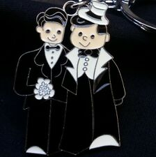 12 Gay Wedding Key Chain Favors, Keychain, Mr & Mr, Groom, Metal, Gift, Boda