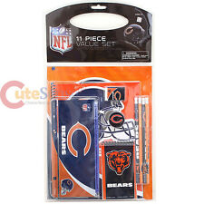 NFL Chicago Bears 11pc School Stationary Set Team Logo Study Vaule Kit