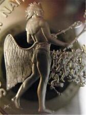 7/8-OZ. CHOCTAW TRIBAL NATIONS INDIAN COIN FRANKLIN MINT SILVER.999 + GOLD B/U