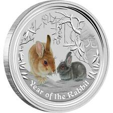 Perth Mint Australia 2011 Colored Rabbit 1/2 oz .999 Silver Coin