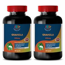 Make Brain Strong Pills - Graviola 650mg - Soursop Fruit 2B