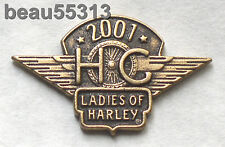 LADIES OF HARLEY DAVIDSON OWNERS GROUP HOG LOH 2001 VEST HAT JACKET PIN 01