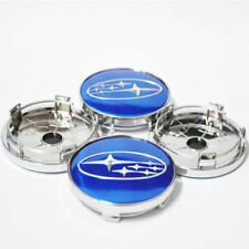 4X blue Subaru Impreza Forester Legacy Tribeca STI WRX Wheel Center hub Cap 60mm
