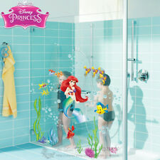 Mermaid Coral Disney Wall Stickers Girls Decal Removable Nursery Art Kids Decor