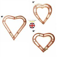 "Wreath Heart Flat Copper Wire Frame Christmas Funeral Xmas 12"" 15"" 18"" UK"