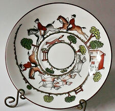 """Crown Staffordshire HUNTING SCENE 6-1/8"""" Saucer for Large / Breakfast Cup"""