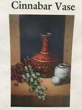 Lina Hoffman 1998 Vintage Packet Cinnabar Vase OILS