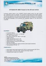 WZŁ RF-5800 H 2014 COMMAND VEHICLES ON HONKER 4x4 MILITARY BROCHURE PROSPEKT