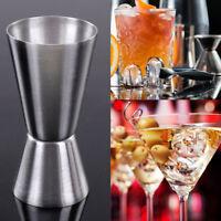 Stainless Steel Drinks Measure Jigger Dual Spirit Cooktail Pub Club 25/50ml HOT