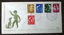 FDC E54 Kinderzegels 1962 Blanco en open klep