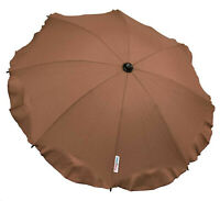 Universal Baby Umbrella Waterproof Fit Quinny Buzz/Zapp pram/stroller Dark Brown