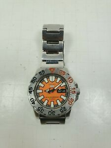 Seiko 5 SNZF49 Automatic Baby Orange Monster Watch Diver 7S36-03D0