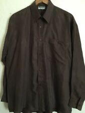 100% Pure Silk Men's Brown Shirt Size L Brand New