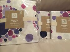 3pc Pottery Barn Teen Bubble Pop Duvet Cover Shams Full Queen Lavender Purple