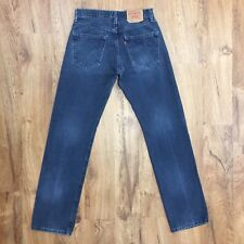 Vtg 90s Levis 501 Button Fly Jeans Wear Distressed 100% Cotton Mens W32 X L34