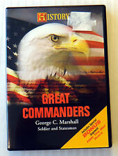 Great Commanders - George C. Marshall ~ Rare History Channel Club DVD ~ War Show